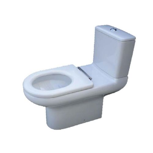H&L Rimless Flush 750mm Extended Projection Floorstanding WC Pan with Close Coupled Cistern